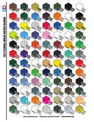 타미야 스프레이 컬러 (tamiya color spray chart)