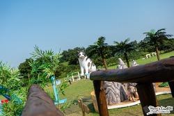 올림픽공원에 거대 고양이 무엇? SKT AR 동물원 다녀오다