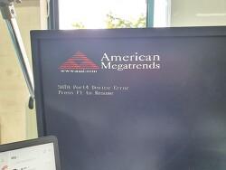 AHCI 부팅 에러 (SATA Port Device Error)(S.M.A.R.T Status BAD : Backup and replace)