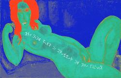 [사진편집] 모딜리아니(Modigliani) - 머리를 푼 채 누워 있는 여인