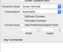 xcode 11부터 빌드시 기본 modal presentation style이 변경됩니다
