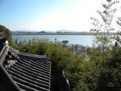 함안 용화산 일대의 낙동강