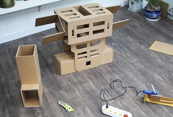 종이상자로 휴머노이드 로봇만들기