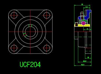 UCF204  2D Section view