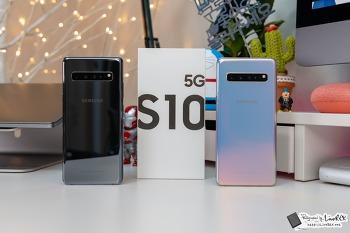갤럭시S10 5G 리뷰 : 4G 모델과 차이, 블랙 vs 실버 비교