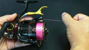 릴에 낚시줄 감는 쉬운 방법(바다낚시 입문, How to tie a fishing line to a spinning reel)