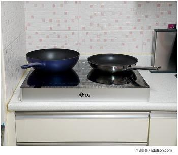 LG DIOS 인덕션 타공부담 없이 6.5cm 빌트인 케이스로 바꾸세요!