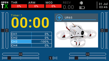 TX16S + URUAV UR65 (플라이스카이 수신기 버전) 바인딩