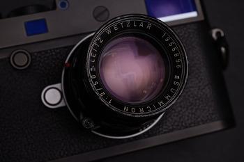 대물렌즈가 교체된 Summicron-M 50mm F2 Rigid 살리기.