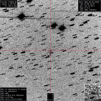 New Comet P/2021 Q5 (ATLAS)  P/2021 Q5  아틀라스 혜성 발견