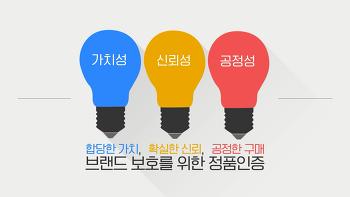 [영상] 조폐공사 정품인증사업 홍보영상 대국민 공모전 '우수상' - 정품인증 인포그래픽