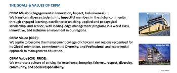 THE GOALS, VALUES, AND ETHICS OF KEAN/WKU CBPM!
