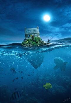 포토샵 합성 강좌 바다 위의 집 (Photoshop Manipulation tutorial House on the sea)