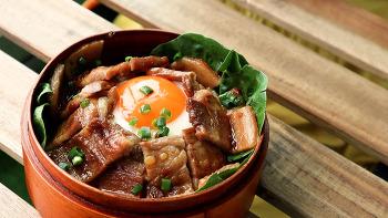 도시락 메뉴 : 삼겹살 간장조림 덮밥 만들기