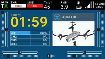 TX16S + Graupner Alpha 110 바인딩