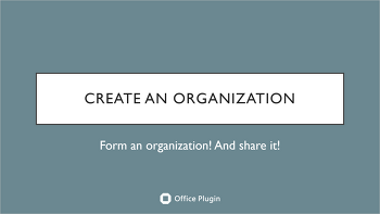 [Office Plugin] Creating and using an organization in Outlook