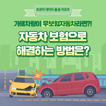 [프로미대리 출동리포트] 가해차량이 무보험자동차라면?! 자동차 보험으로 해결하는 방법은?