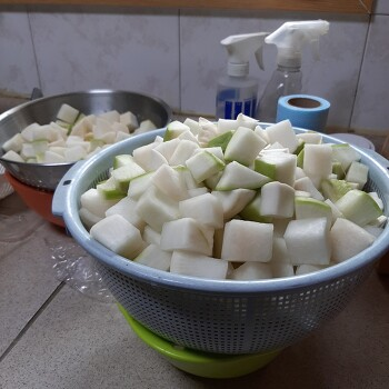 [깍두기만들기] 봄철 단맛나는 무우를 활용하여 깍두기 담그는법