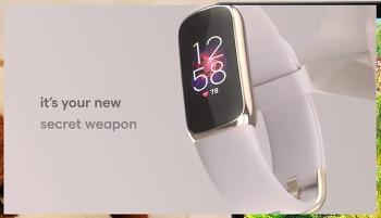핏빗  럭스(Fibit Luxe) 스마트밴드 디자인 어때!! 스타일리시한 피트니스와& 웰니스 트래커로 괜찮아~