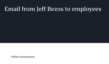 Email from Jeff Bezos 를 읽고...