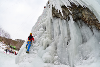 부엉바위 빙벽등반 II