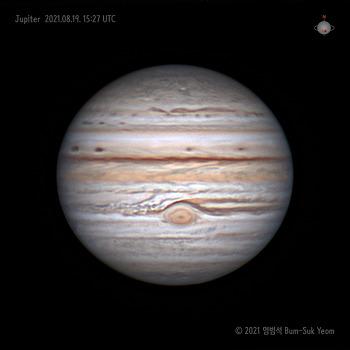 Jupiter at Opposition 충일때의 목성 2021-08-19 UT