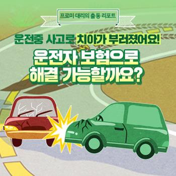 [프로미대리 출동리포트] 운전 중 사고로 부러진 치아, 치아보험을 따로 가입하지 않았는데 운전자보험으로 보상 받을 수 있나요?