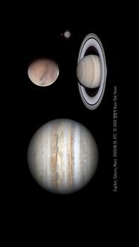 3 Planet smartphone background photo
