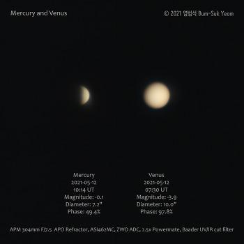 Mercury and Venus 수성과 금성