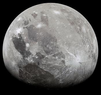 NASA's Juno fly by Ganymede  주노 탐사선이 가니메데에 근접 2021-06-09