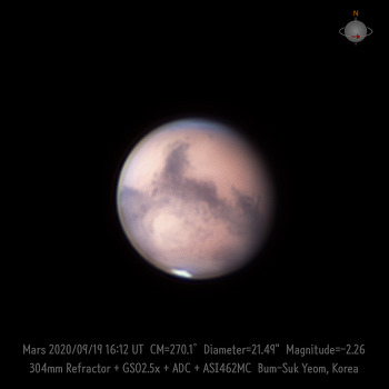 Mars 화성 2020-09-19 UT