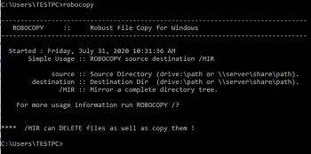 xcopy 보다 향상된 robocopy - 변경된 내용만 복사하기
