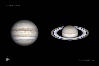 2020 Jupiter and Saturn 목성과 토성