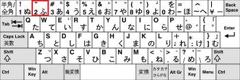 일본 키보드 단어 배치표