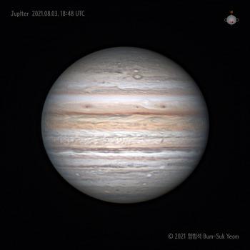 Jupiter 목성 2021-08-03 UT