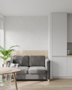 깨끗하고 깔끔한 12평 인테리어 디자인 (평면도 포함)