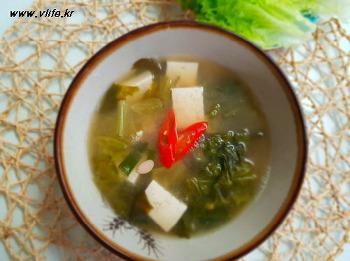 상추 두부 된장국, 익혀 먹는 상추 요리