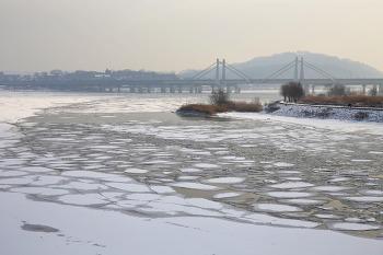 008. 한강(아라뱃길 한강갑문 부근) 설경/20210113