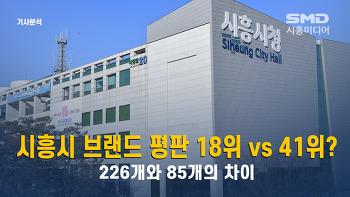 [기사분석] 시흥시 브랜드 평판 18위 vs. 41위?