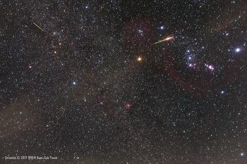 2017 Orionid meteor shower (Orionids)  2017년 오리온자리 유성우