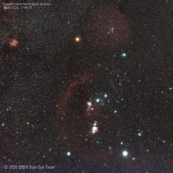 Comet C/2020 M3 (ATLAS) near Bellatrix  벨라트릭스 별 근처의 아틀라스 혜성