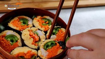 명절 후 다이어트 도시락 : 식욕을 참지말고 밥 없는 도시락 만들기