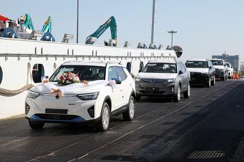 쌍용 첫 전기차, '코란도 이모션' 수출 선적 - 11월 유럽 현지 시장 판매 개시