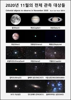 2020년 11월의 천체 관측 대상들  Celestial objects to observe in November 2020