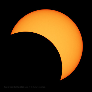 Partial Solar Eclipse  부분일식 Peak time