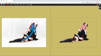 [이넘컷] 서큐버스 코스프레 모델 사진_쉽고 빠른 자동 배경제거 누끼 작업컷_(예시 샘플)