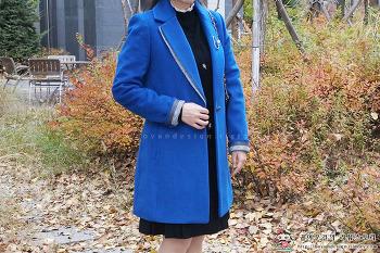 [롯데홈쇼핑] 아날도바시니 변형 카라 원버튼 코트 (AR01JK42M)