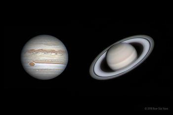 Jupiter and Saturn 2018