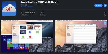 Jump Desktop - iPad에서 윈도우 원격데스크탑 터치 형태로 사용 (RDP, VNC, Fluid)