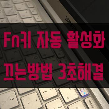 삼성노트북 펑션키 해제 Fn key off